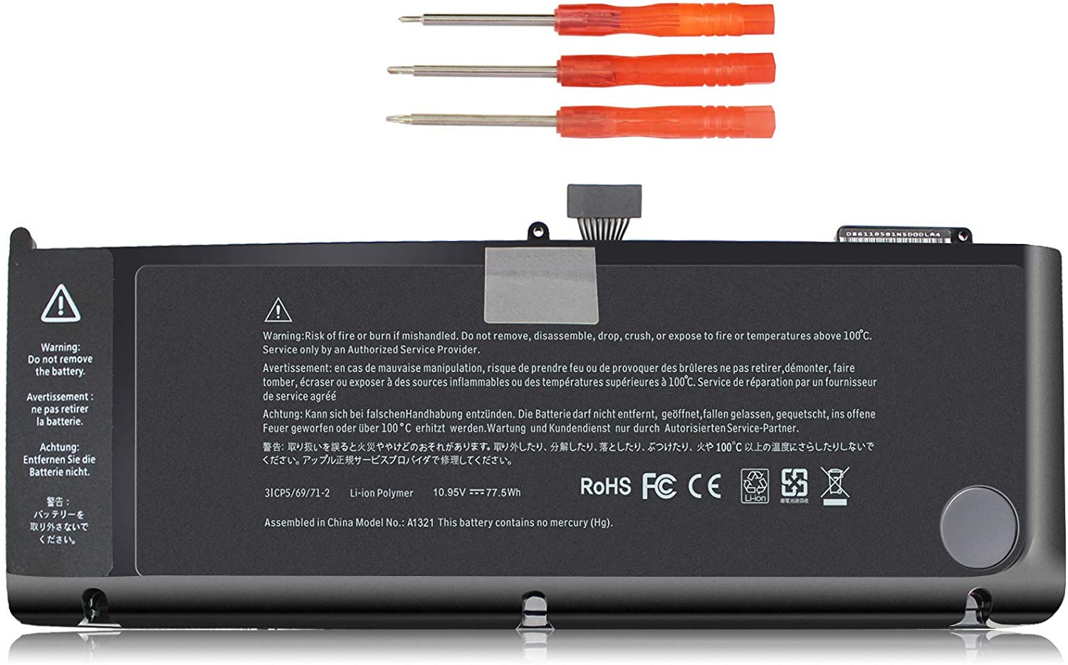 ECHEER A1321 New Laptop Battery Compatible with MacBook Pro 15 inch A1286 Battery (Mid 2009, Mid 2010 Version Only),Fit MB986LL/A MC373LL/A MC371LL/A MC372LL/A MB985LL/A MC118LL/A 10.95V 77.5Wh 6 Cell