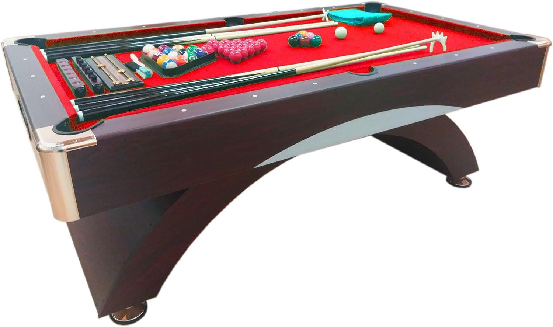 Mesa de billar juegos de billar pool 8 ft carambola FULL Medición 220 X 110 cm mod. CAESAR: Amazon.es: Juguetes y juegos