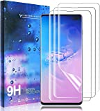 Masstimo (3 Pack for Samsung galaxy S10 Plus Screen Protector In-screen Fingerprint Recognition [Premium Quality] Anti-Bubble TPU 3D Edge to Edge [Full Coverage] Soft Screen Protector