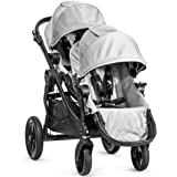 Baby Jogger City Select Black Frame Stroller with 2nd Seat, Silver
