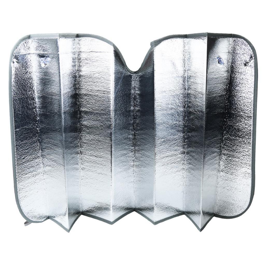 Large Bonus 2 Pack Cling Sunshades.210T Reflective Fabric Blocks Sun Keeps Your Vehicle Cool. Magnelex Windshield Sun Shade