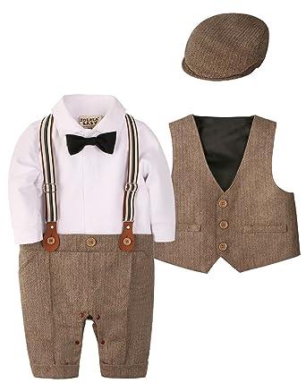 a02aa7ee1124 Amazon.com  ZOEREA 1pc Baby Boys Tuxedo Gentleman Onesie Romper ...