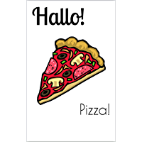 Hallo! The bilingual magazine for German language learners: Pizza! (English Edition)