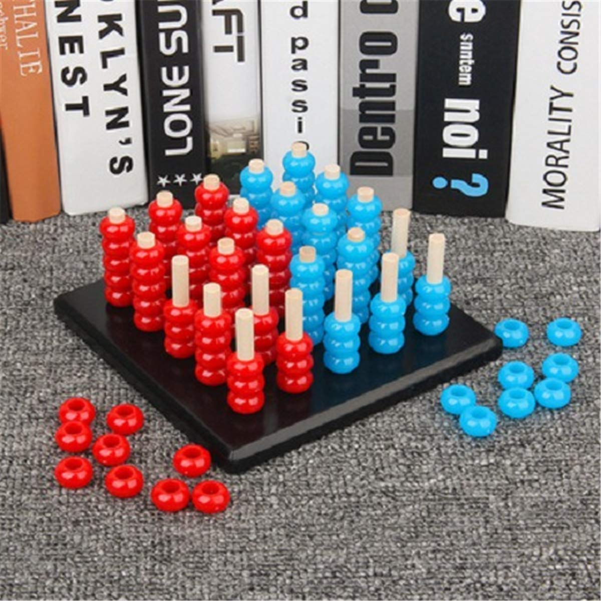 Horoshop 3D Connect 4 in A Row Game Brain Challenge Difficulty Upgrade Educational Toys Kids Parent Interaction