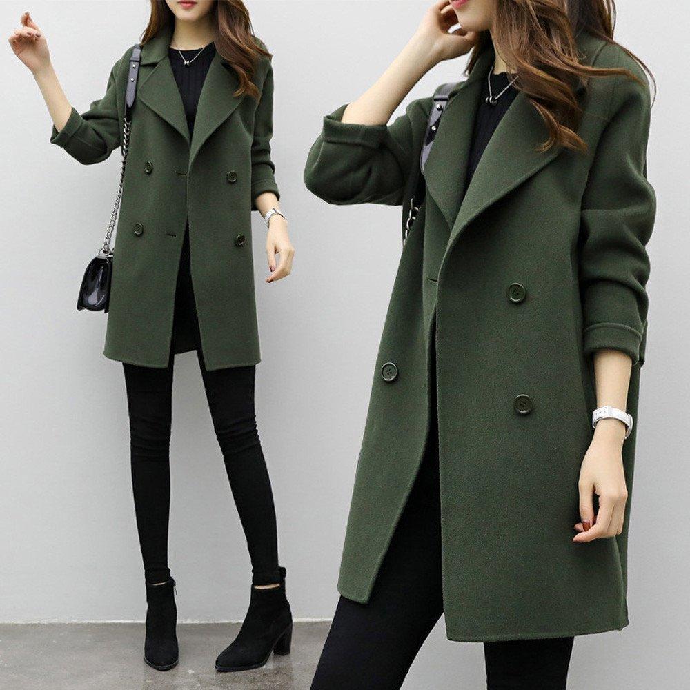 37d8ce07270e Internet Damen Beiläufige Lange Hülsen Wolljacke Jacken Mantel Pullover  Strickwaren  Amazon.de  Bekleidung
