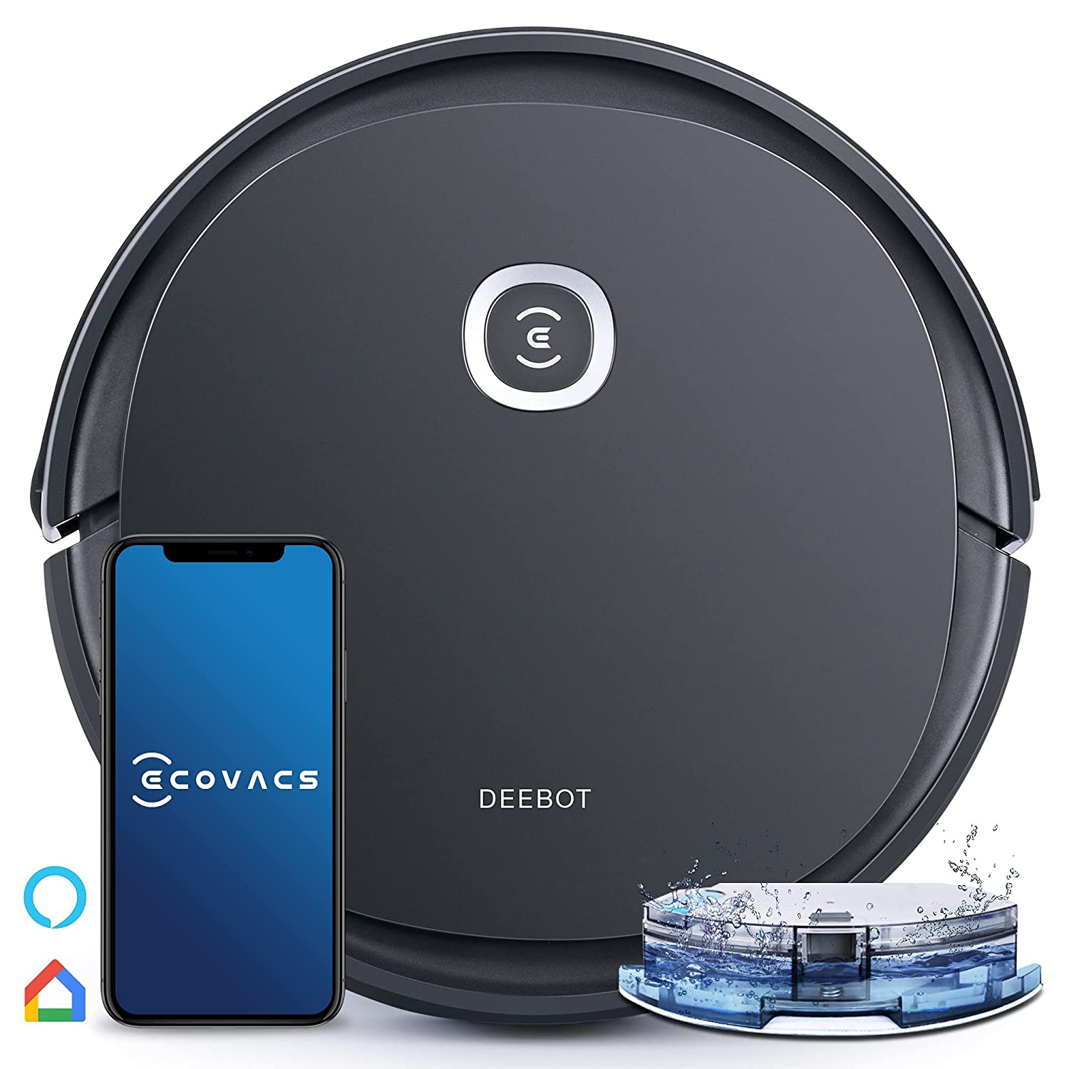 ECOVACS DEEBOT U2 Pro Robotic Vacuum Cleaner and OZMO Mopping