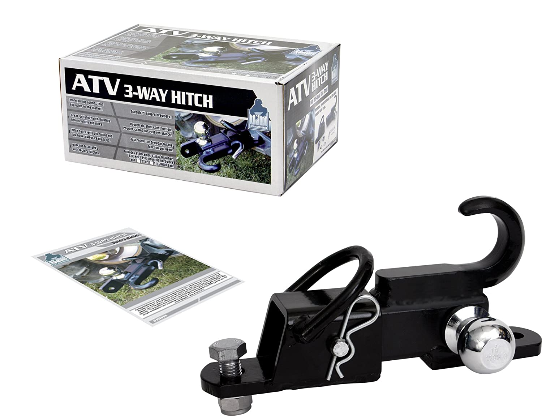 Komodo ATV ATV3WH22 ATV 3-Way Receiver Hitch with 2 Hitch Ball