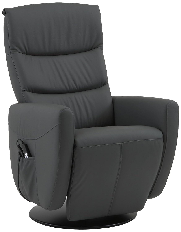 Sino-Living SE-800C-S-05-M Relax und Ruhesessel in Dickleder, grau mit manueller Verstellung