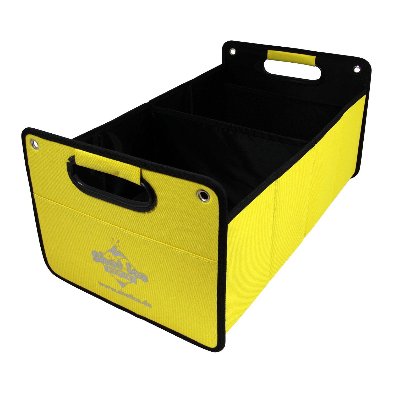 Shot Ice Kofferraumtasche aus Polyester mit stabilem Boden rot inkl. Druck Klappbox Kofferraumbox Faltbox Organizer Autobox Tasche Auto Kofferraum Zubeh/ör CB Pr/äsentwerbung GmbH