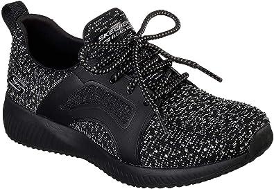 Skechers Womens Low Sneaker Black, Size