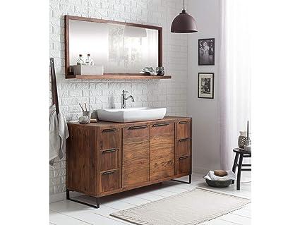 Woodkings Waschtisch 138cm Mit Spiegel Sydney Akazie Dunkel