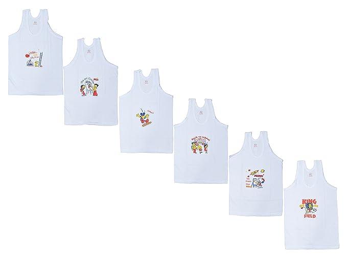 283f0b730 Sathiyas Akash 100% Cotton Girls Vest - Pack of 6  Amazon.in ...