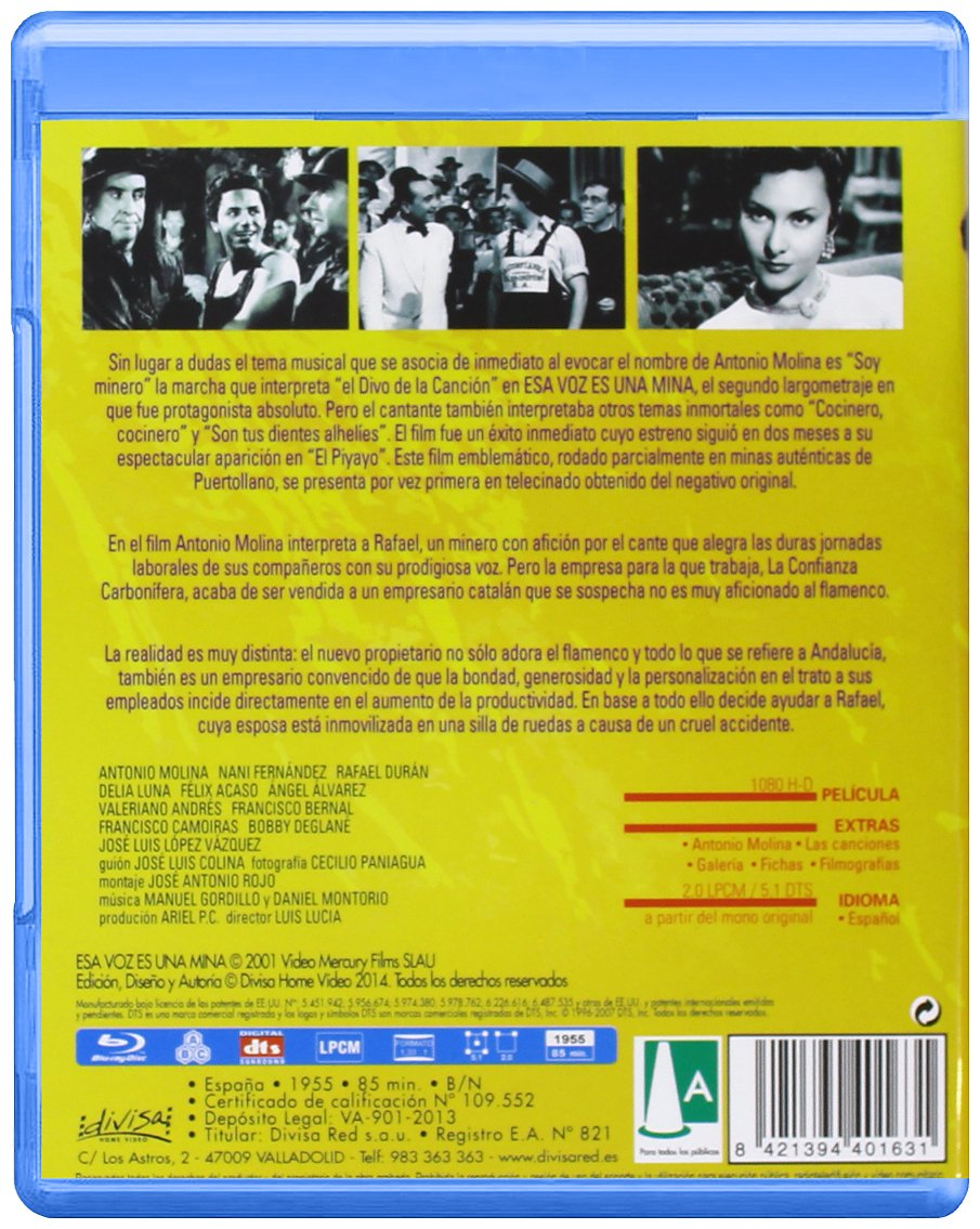 Amazon.com: Esa Voz Es Una Mina (Blu-ray) (Import Movie) (European Format - Zone 2) [1955]: Movies & TV