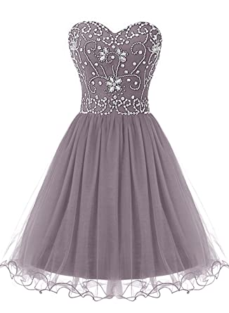 Bbonlinedress Sweetheart Short Tulle Prom Dress Evening Party Wear