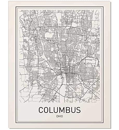 Amazon Com Columbus Map Columbus Map Print Ohio Map Ohio Print