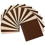タイルカーペット ジョイントマット 大判 20枚 28×28cm 防音 洗える 滑り止め おしゃれ 可愛い ブラウン Four Piece