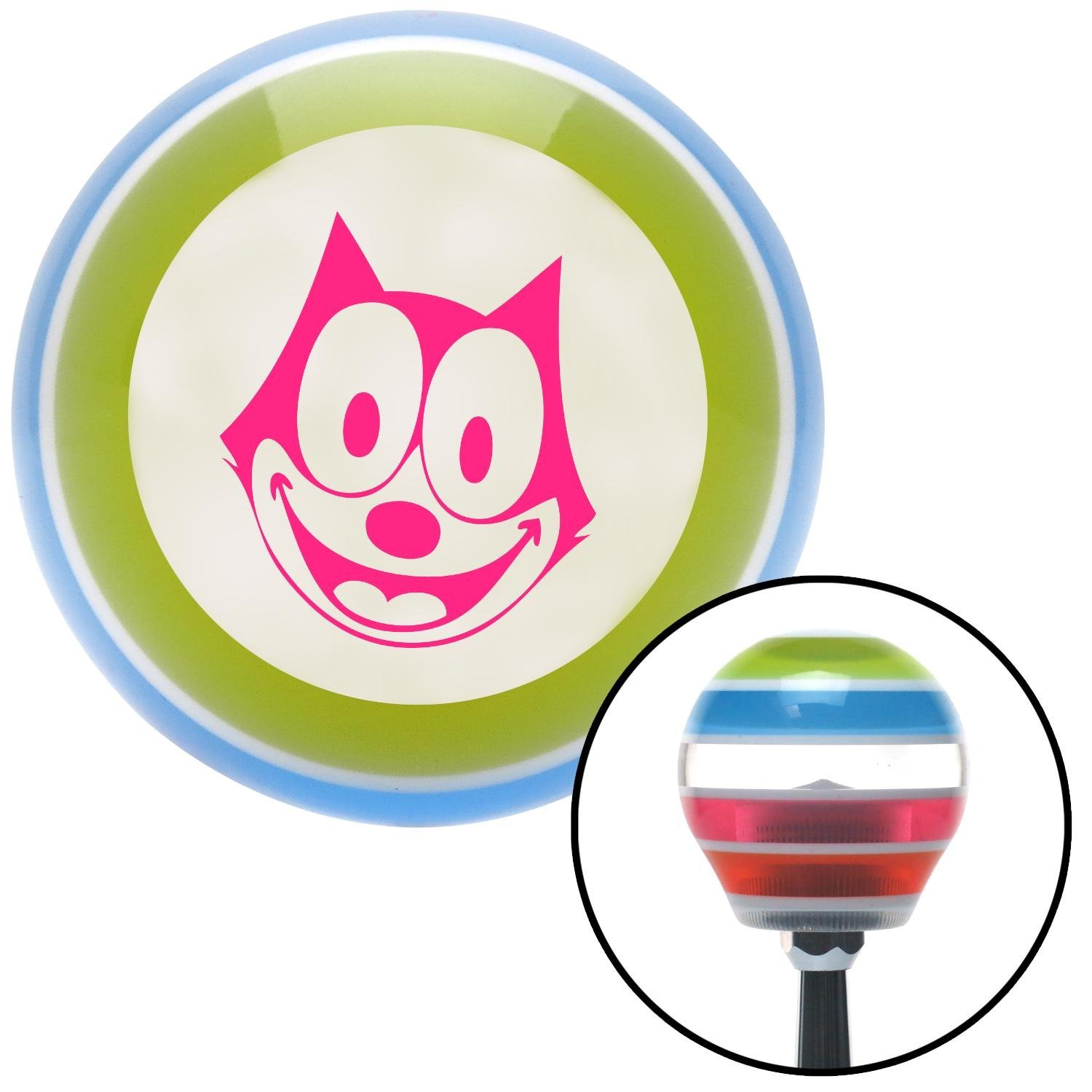 Pink Felix The Cat Smiling American Shifter 135663 Stripe Shift Knob with M16 x 1.5 Insert