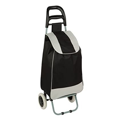 Honey-Can-Do CRT-03570 Large Rolling Knapsack Bag Cart with Wheels , Holds up to 40-Pounds, Black