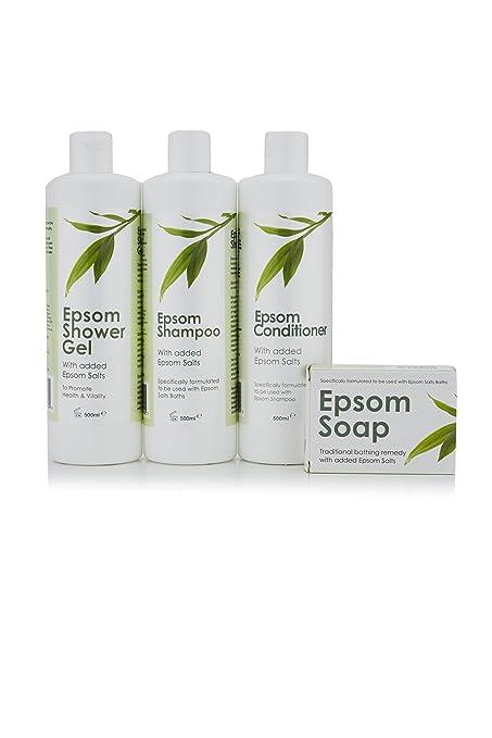 Epsom Champú, Acondicionador, Gel de ducha y jabón – Entrega GRATIS al día siguiente