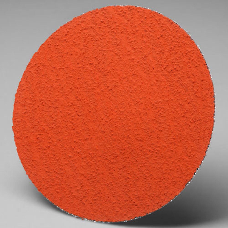 """3M Roloc Disc 777F, Ceramic, 3"""" Diameter, TR, 80 Grit - Lot of 50"""