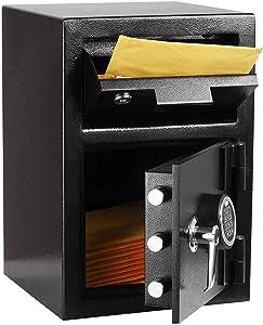 INVIE Drop Safe Depository Vault Mail Cash Drop Box Slot Safe with Digital Keypad Design for Home Office Hotel Jewelry Gun Passport Cash Money