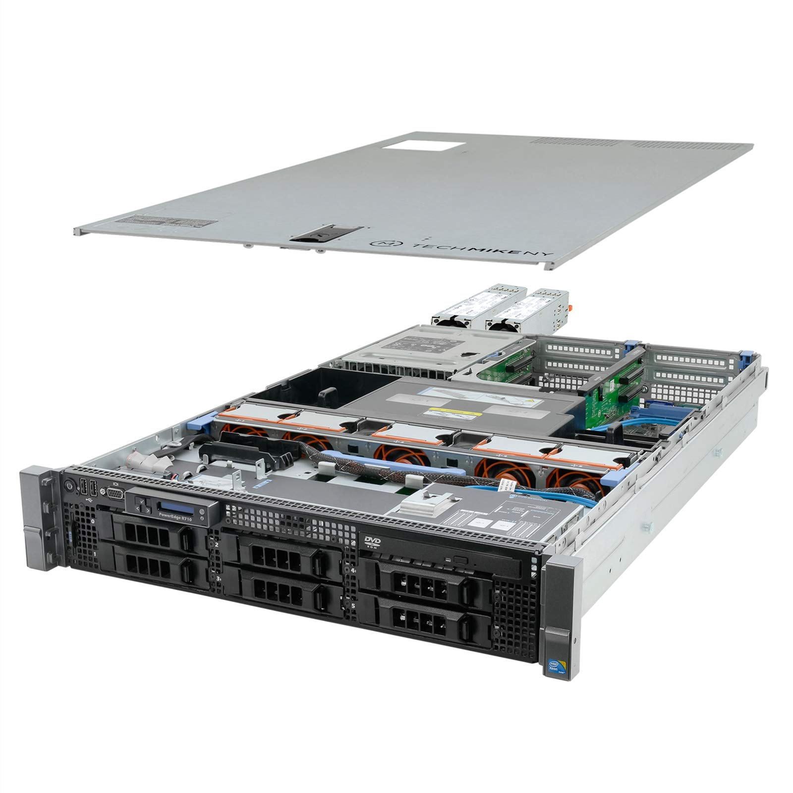 TechMikeNY High-End Virtualization Server V2 12-Core 144GB RAM 24TB RAID PowerEdge R710 (Renewed) by Dell