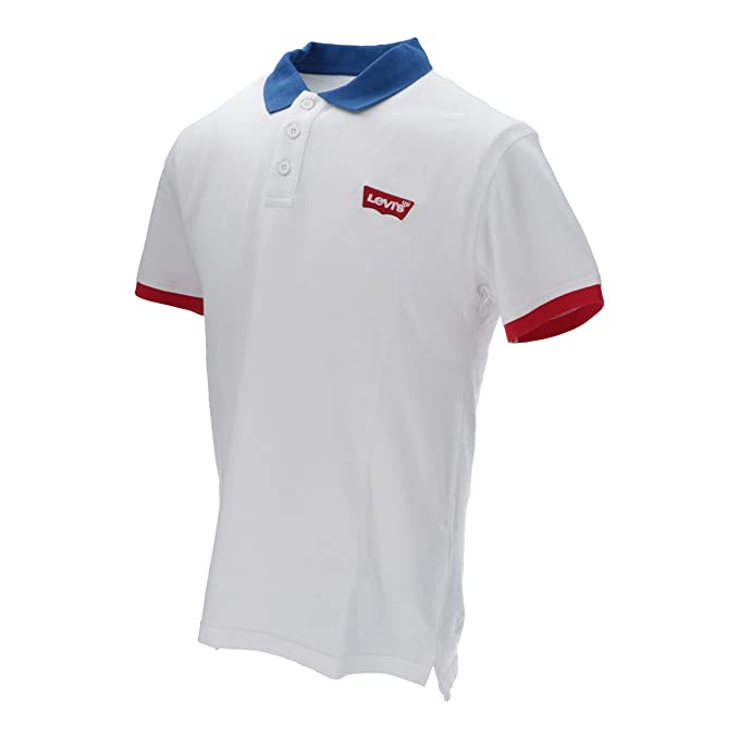 Polo Levis Colorblock Blanco: Amazon.es: Ropa y accesorios