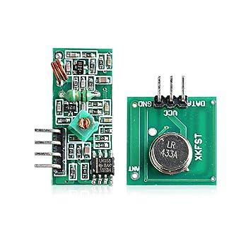 Neuftech 433mhz Módulo De Rf Kit De Transmisor Receptor Inalámbrico Para Arduino Arm Mcu