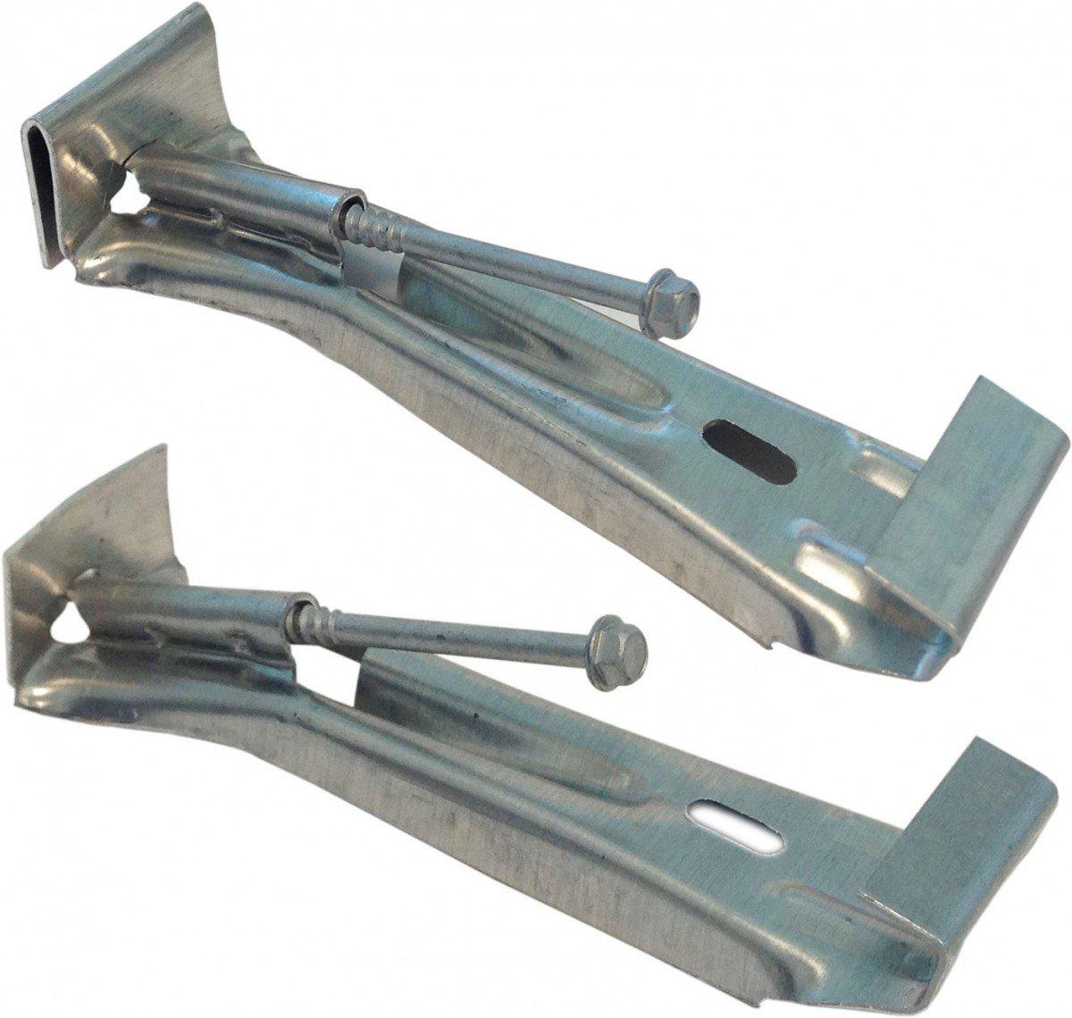 Quick Screw 5'' 100 Pack Premium Hidden Rain Gutter Bracket Hook Hangers with screw clip style
