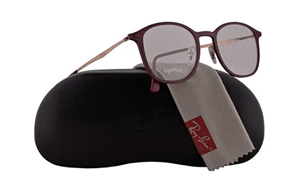 6b08e9a128 Amazon.com  Ray-Ban RX7051 Eyeglasses 49-20-140 Red w Demo Clear ...