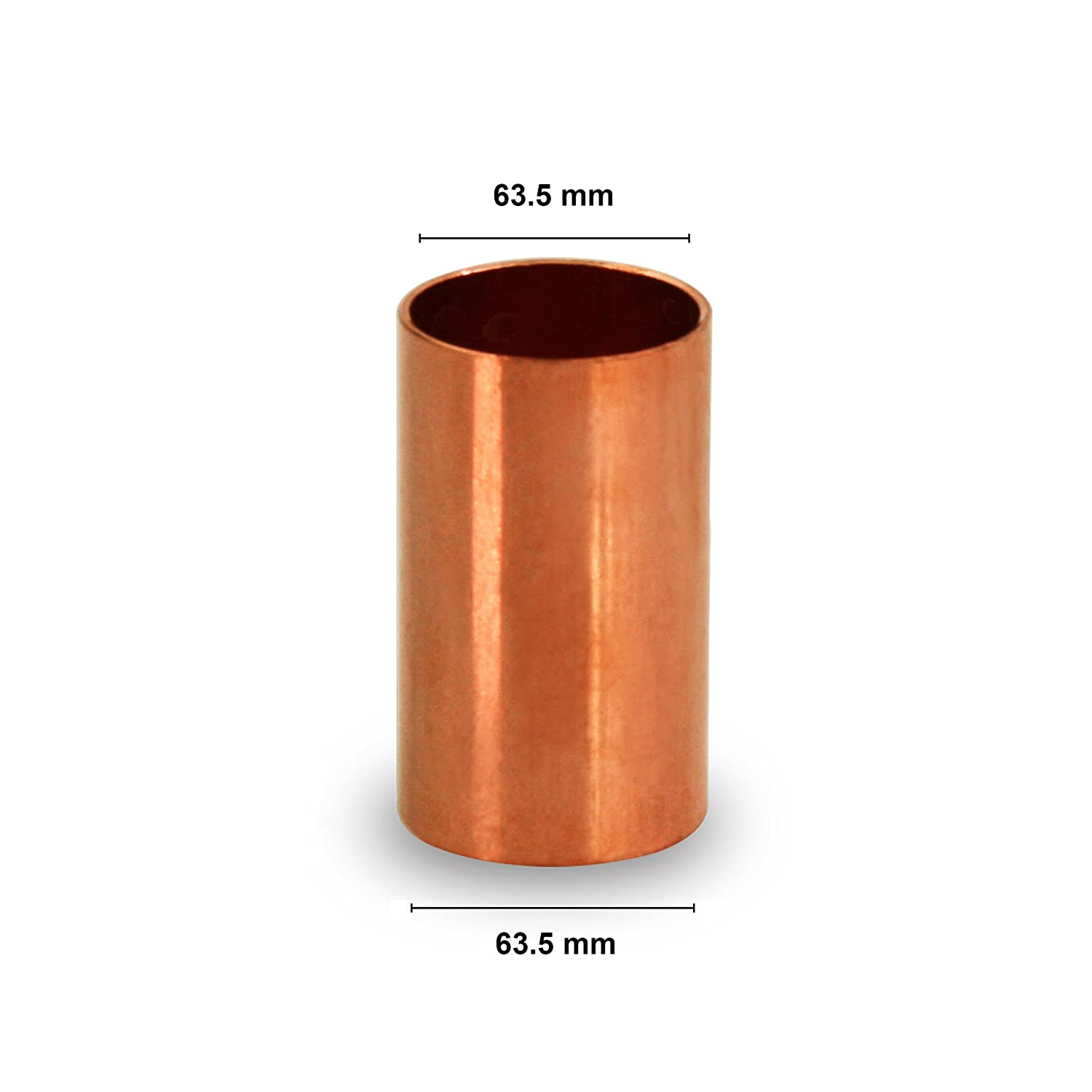 Everflow CCCL0100 1 Nominal Pipe Diameter Straight Copper Coupling With Sweat Sockets And Without Tube Stop Everflow Supplies