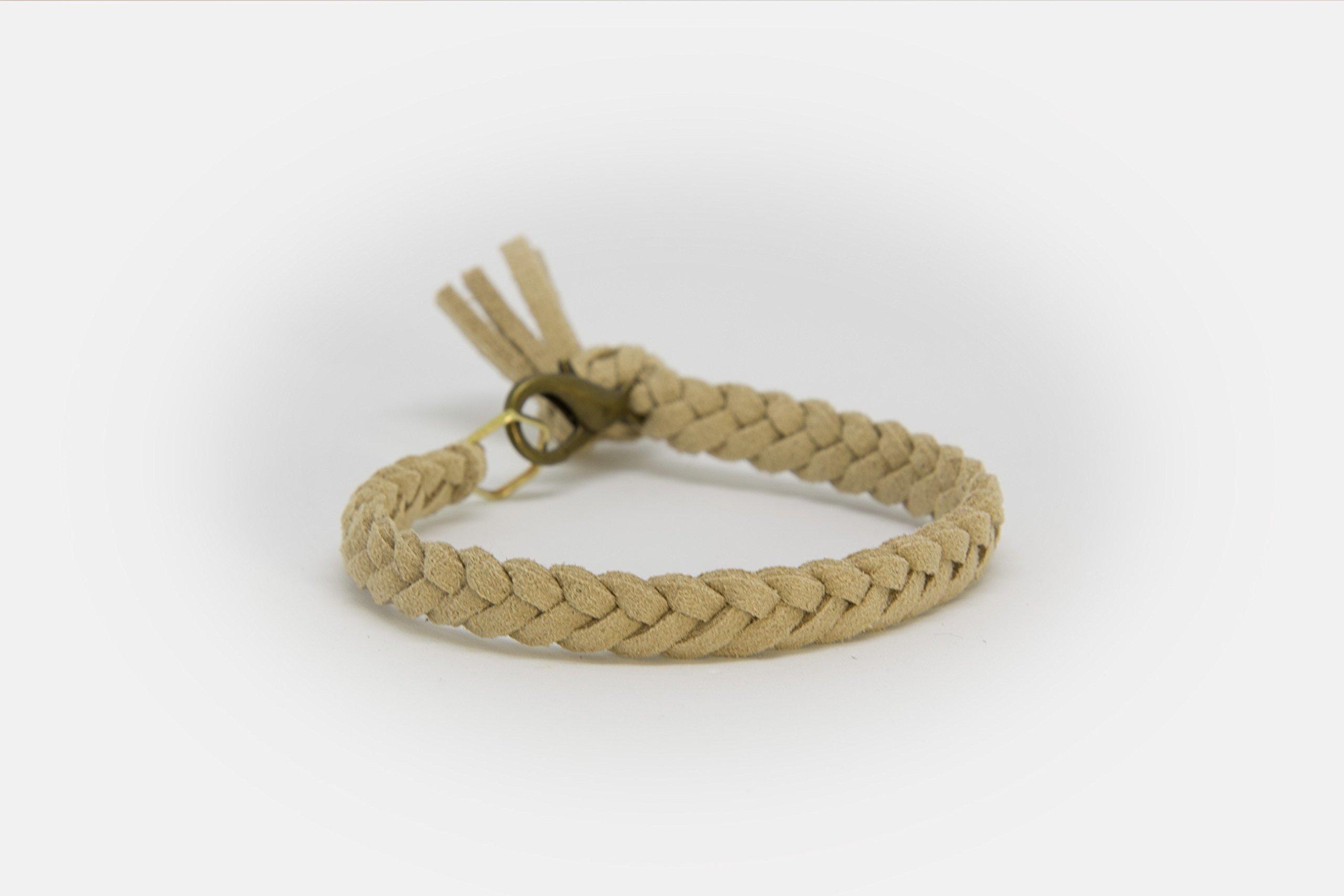 LoilJ Essential Oil Diffusing Bracelet - Braided 6in Oat Beige