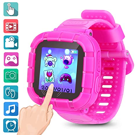 Watches For Kids Smart Watch Game Smartwatches Touch Screen Camera Recorder For Boys Girls Childrens Day Birthday Christmas Gifts(Pink)