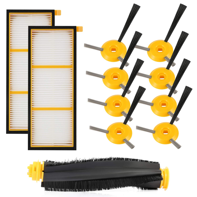 cabiclean Replenishment Kit Compatible Shark ION Robot RV750, RV720, RV700, RV750C, RV755. 11 Pack (1 Main brushroll & 2 Filters & 8 Side Brushes)