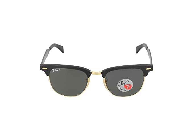 698ba69a48682 Amazon.com  Ray-Ban RB3507 136 N5 Clubmaster Aluminum Polarized Sunglasses