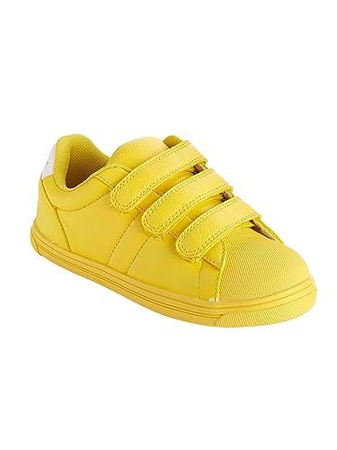 806f0c6616e5c Vertbaudet Baskets scratchées Jaune 34  Amazon.fr  Chaussures et Sacs