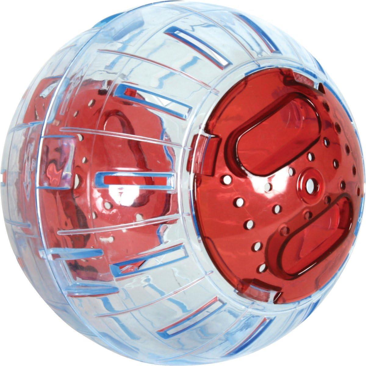 Zolux–Bola de Ejercicios para Animales pequeños–12,5cm–Color Cereza