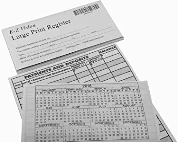 large print check registers