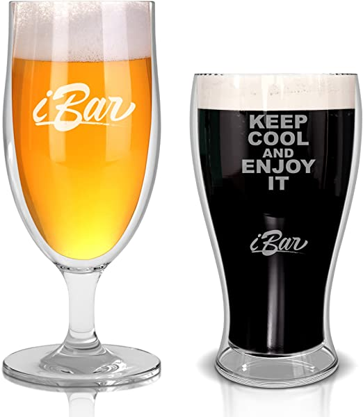 Keeps Beer Ice Cold Perfect Gift for Beer Lovers Insulated Beer Mug Double Wall Stainless Steel 17oz 1, Stainless Steel