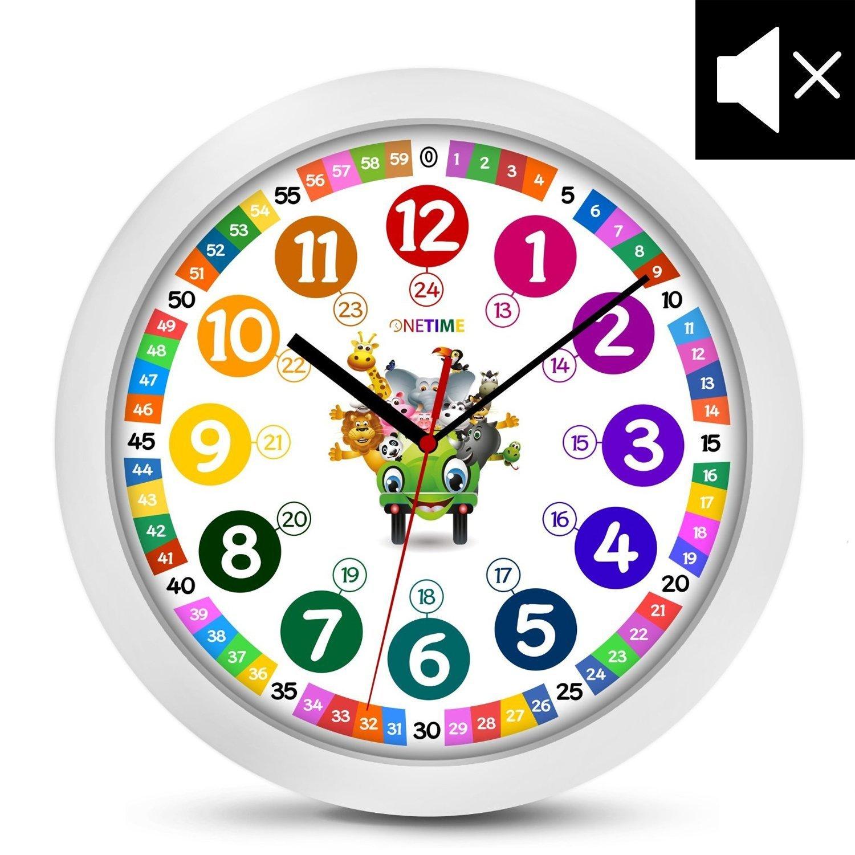 onetime enfants horloge murale 30 5 cm silencieux avec horloge et design ebay. Black Bedroom Furniture Sets. Home Design Ideas