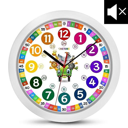 onetime enfants horloge murale Ø 30 5 cm enfants silencieux