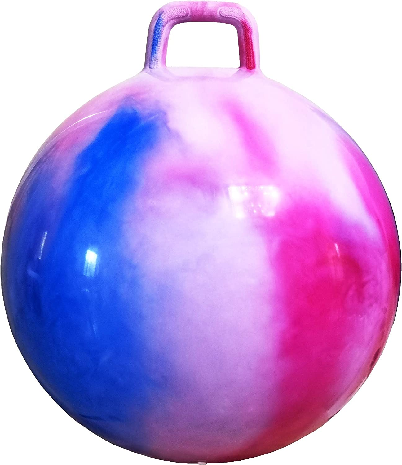 AppleRound Space Hopper Ball with Air Pump: 20in/50cm Diameter for Ages 7-9, Hop Ball, Kangaroo Bouncer, Hoppity Hippity Hop, Jumping Ball, Sit and Bounce
