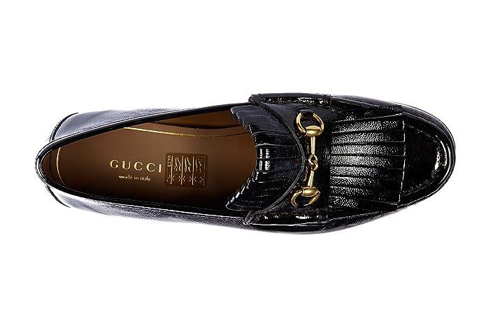 Gucci Mocasines en Piel Mujer Nuevo Pintar Naplack Negro EU 40 351305 AB800 1000: Amazon.es: Zapatos y complementos