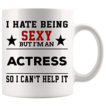 Amazon com: Actress Mug Coffee Best Ever Cup - Hate Being