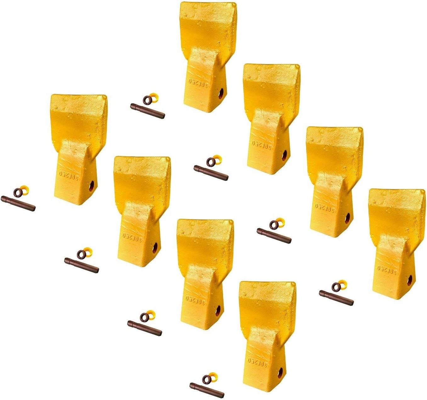 5 3G-8250 CAT J250 Style Bucket Flare Teeth w pins /& retainers 208-5254