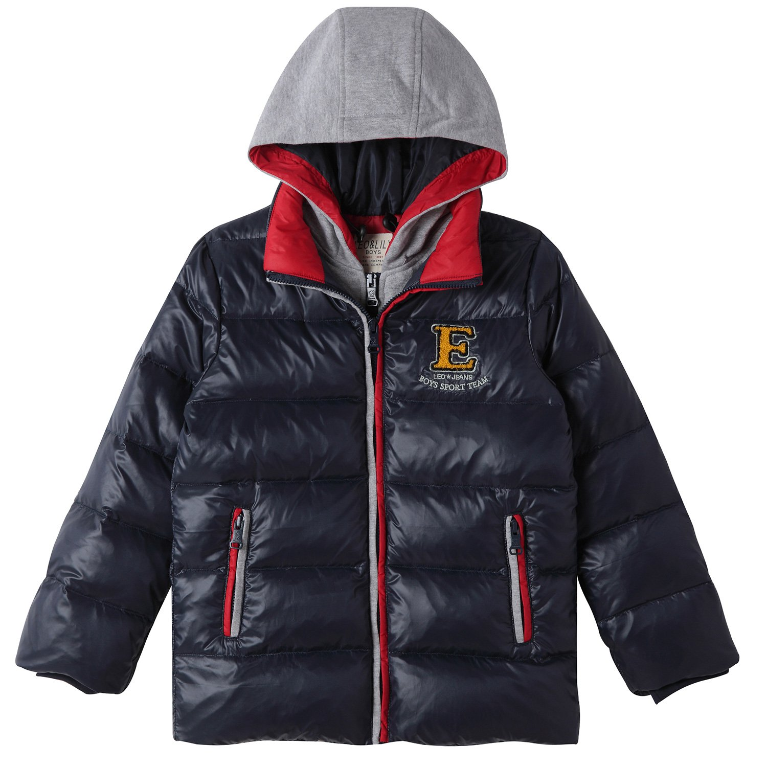6d226e26f50b Amazon.com  Leo Lily Little Boys  Winter Padded Puffer Down Jacket Outwear  Coat  Clothing