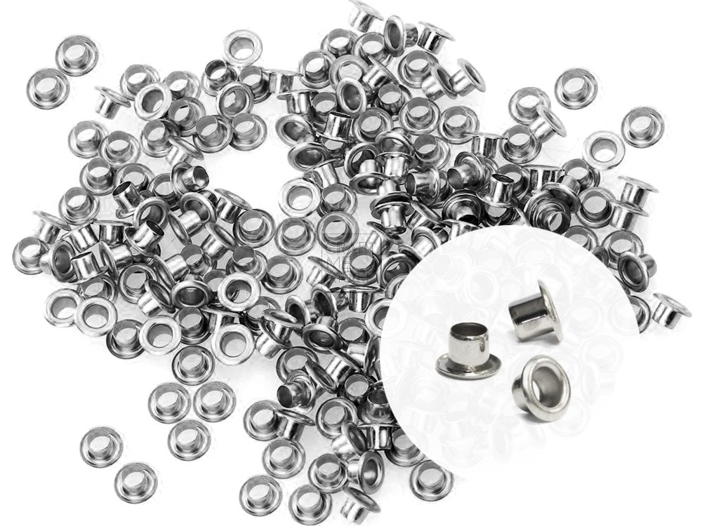 Canvas Clothes Leather CRAFTMEmore 2MM Hole 200PCS Tiny Grommets Eyelets Self Backing for Bead Cores Gunmetal
