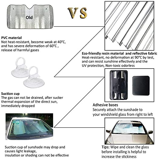 VORCOOL parasol de parasol de coche cortina autom/ático retr/áctil Sun Block Blinds negro