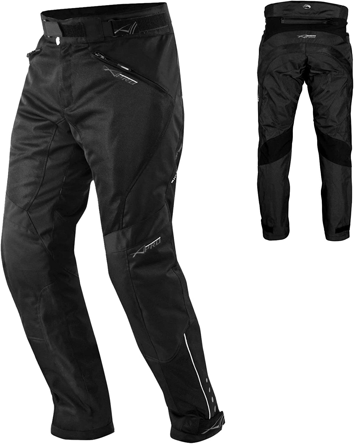 CE Armour Mesh Summer Lady Trouser Motorbike Motorcycle Pants Sonicmoto Black 26