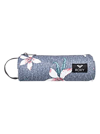 Roxy Off The Wall Estuche Escolar, Mujer, Rosa/Gris (Charcoal Heather Flower Field), Talla Única: Roxy: Amazon.es: Deportes y aire libre